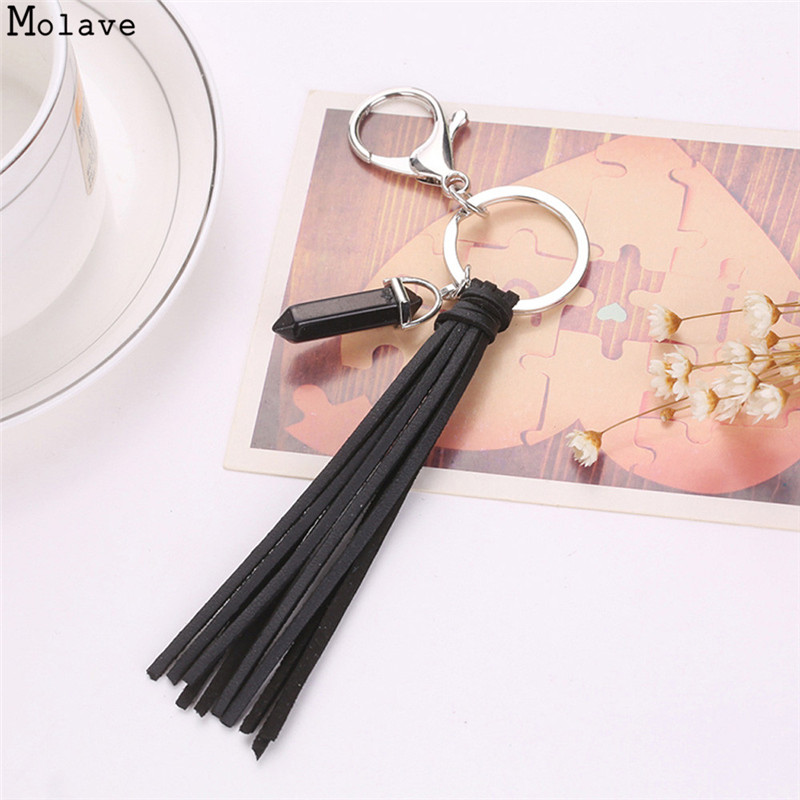 2017 New fashion! Key Chain Accessories Tassel Key Ring Car Keychain Handbag Bag Accessories Rhinestone Keychain Pendant se212