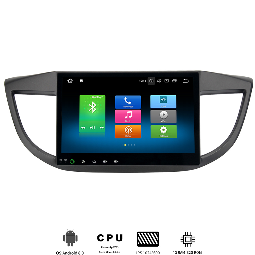 Car 1 din Android 8.0 radio Stereo for <font><b>Honda</b></font> <font><b>CRV</b></font> 2012 2013 <font><b>2014</b></font> CR-V <font><b>Multimedia</b></font> Player built-in GPS wifi 8-Core 4Gb+32Gb TDA7850 image