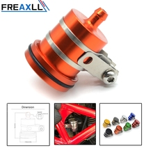 FREAXLL Universal Motorcycle Brake Fluid Reservoir Clutch Tank Oil Fluid Cup For KTM DUKE 125 390 690 Duke Bajaj PulsaR 200 NS мотоцикл bajaj pulsar 200 as bajaj as 200 blue