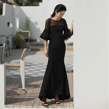 VERRAGEE women 2019 Summer Long sexy black Mermaid dress vintage Dress