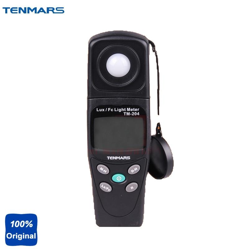 Digital Light Meter LUX and FC Ligth Meter Measuring Lights Source Include All Visible Range TM-204 bside elm02 professional digital light meter lux fc light meter
