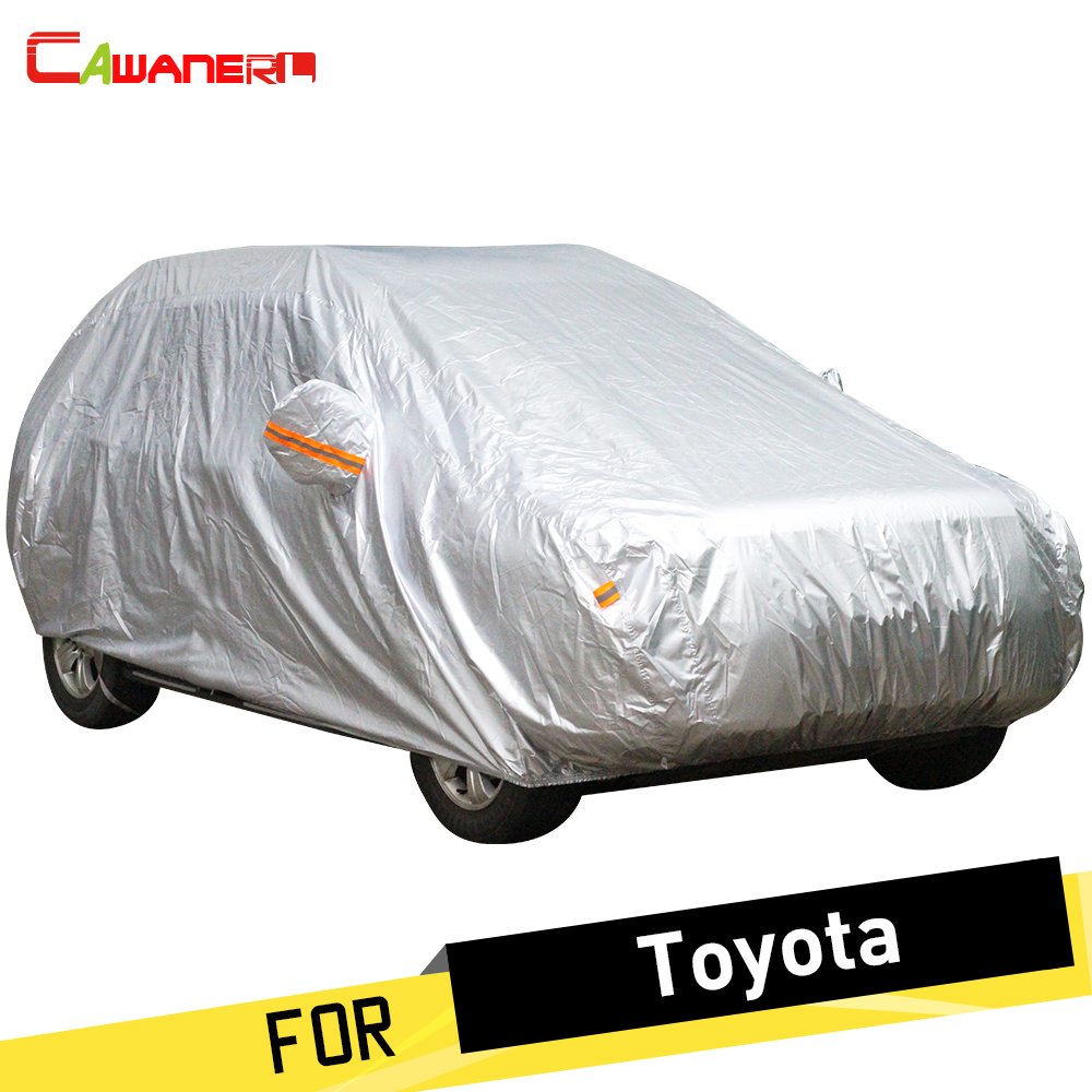 Cawanerl Car Cover Anti UV Rain Sun Snow Protector Cover Dust Proof For Toyota Levin Yaris
