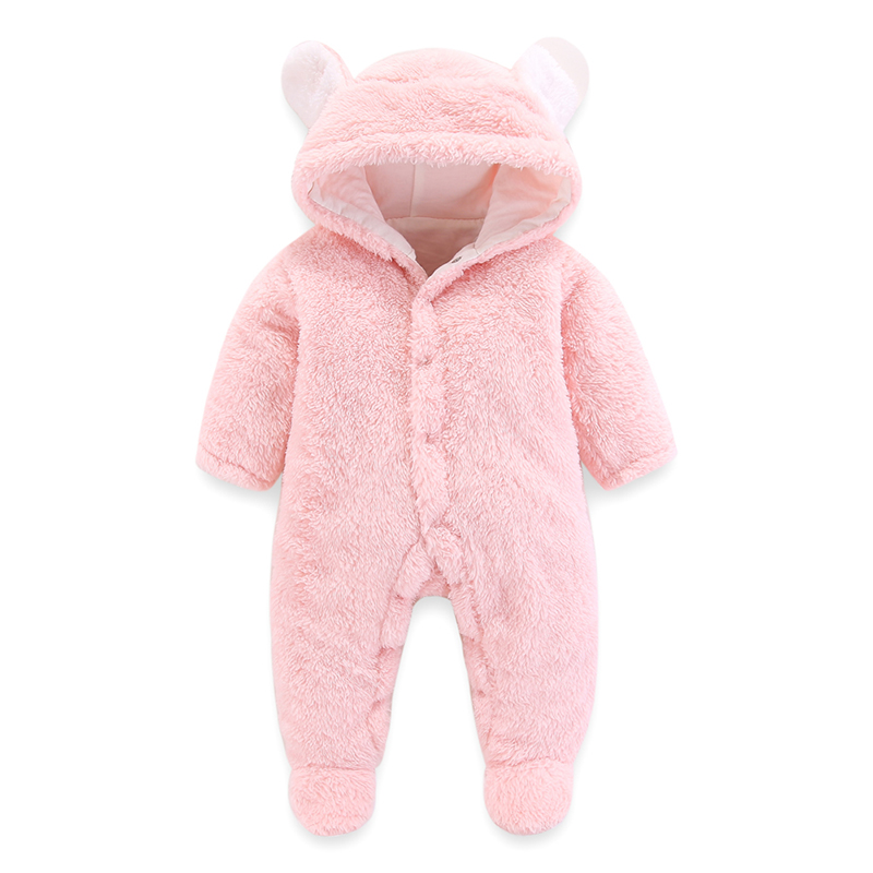 Newborn Baby Girls Clothes Bodysuit Baby Rompers Hooded Pajamas Warm Winter Animal Costumes Baby Hooded Rompers