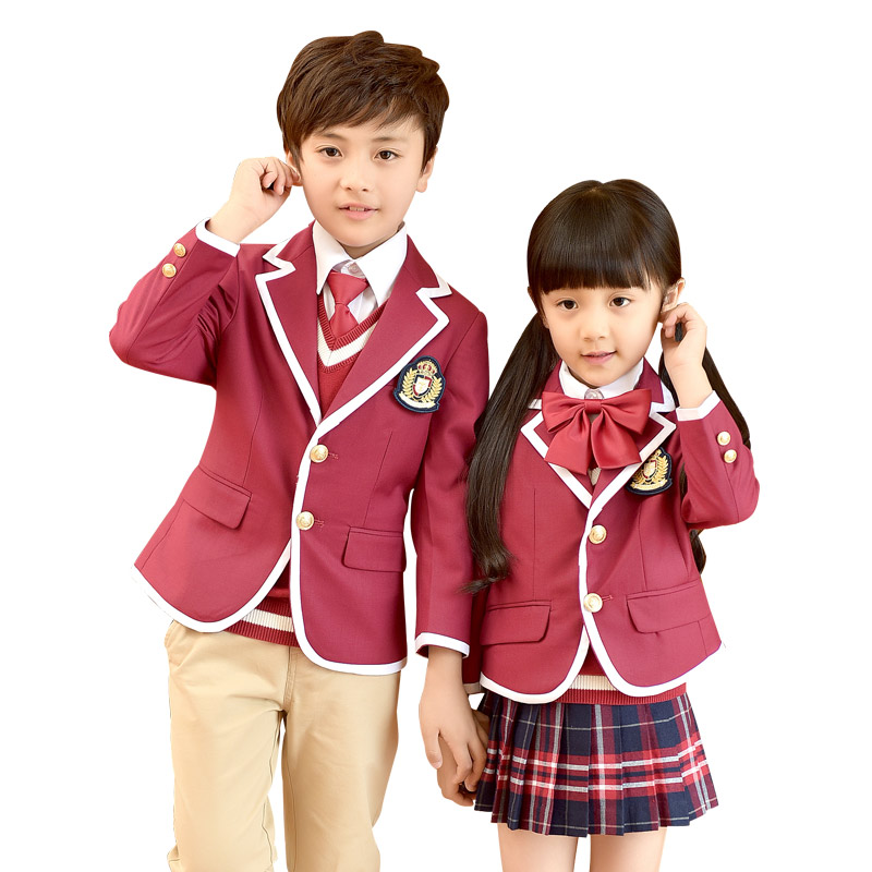 Tops 2018 Kids School Uniforms For Girls Boys School Uniform Suit Jackets V-neck Pockets New Cotton Skirt Jacket School Uniform professiona metal egg kegel exercise 4pcs balls take steps pelvic floor muscles vaginal exercise yoni egg ben wa ball sex toy