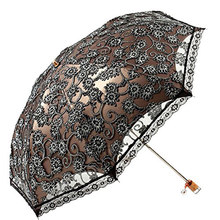 Elegant women embroidery lace umbrella girls summer sunny and rainy umbrellas portable parasol mujer parapluie parasol(China)