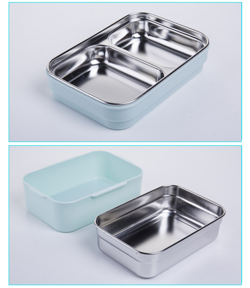 TUUTH Cartoon Lunch Box  Stainless Steel Double Layer Food Container Portable for Kids Kids Picnic School Bento Box B7