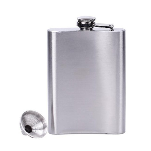 4/5/6/7/8/10/18 oz Stainless Steel Hip Liquor Whiskey Alcohol Flask Cap + Funnel Hip Flask