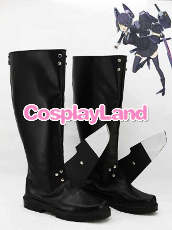 Customize Boots Kantai Collection Fleet Girls Tenryuu Black Cosplay Boots Custom Any Size Anime Party Boots