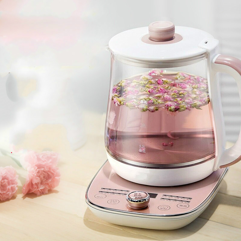 Full automatic and thickened glass multi-function household tea kettle boiling kettle electric cukyi household electric multi function cooker 220v stainless steel colorful stew cook steam machine 5 in 1