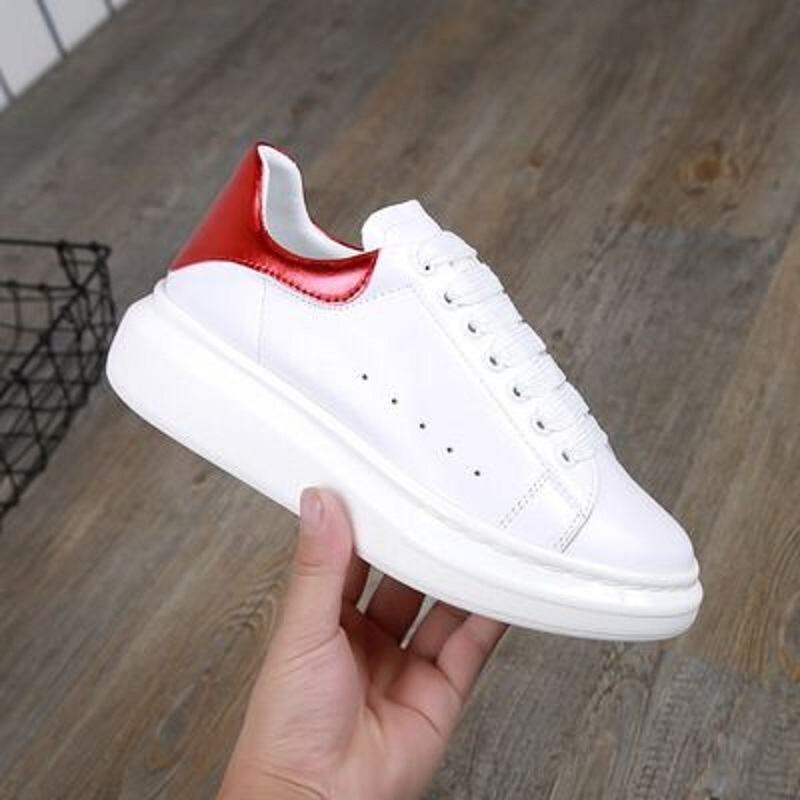 2018 new spring and autumn leather casual sports shoes wild fashion personality trend women's shoes