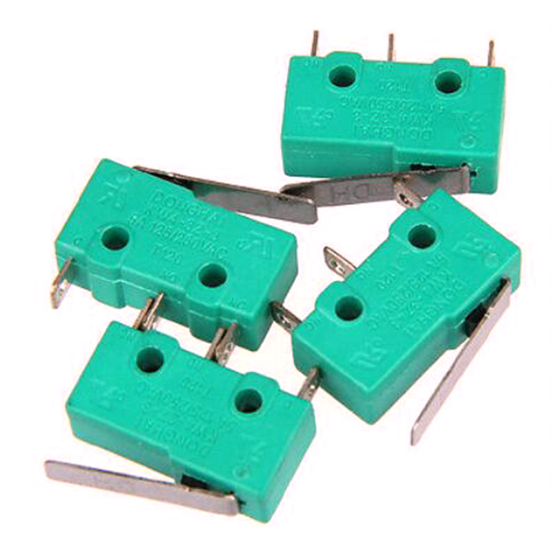 10pc-lot AC 125V 5A Short Hinge Micro Switch Limit Switch KW4-3Z-3 For 3D Printer Reprap