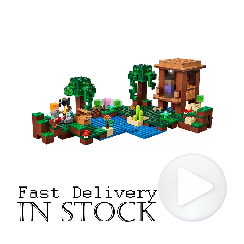 LEPIN 18027 The Witch Hut Minecraft My World Building Blocks Bricks Toys DIY For Kids Model 500PCS Compatible legoINGly 21133 lepin minecraft 504pcs the forest secret my world figures building blocks bricks fun castle house toys for children gifts