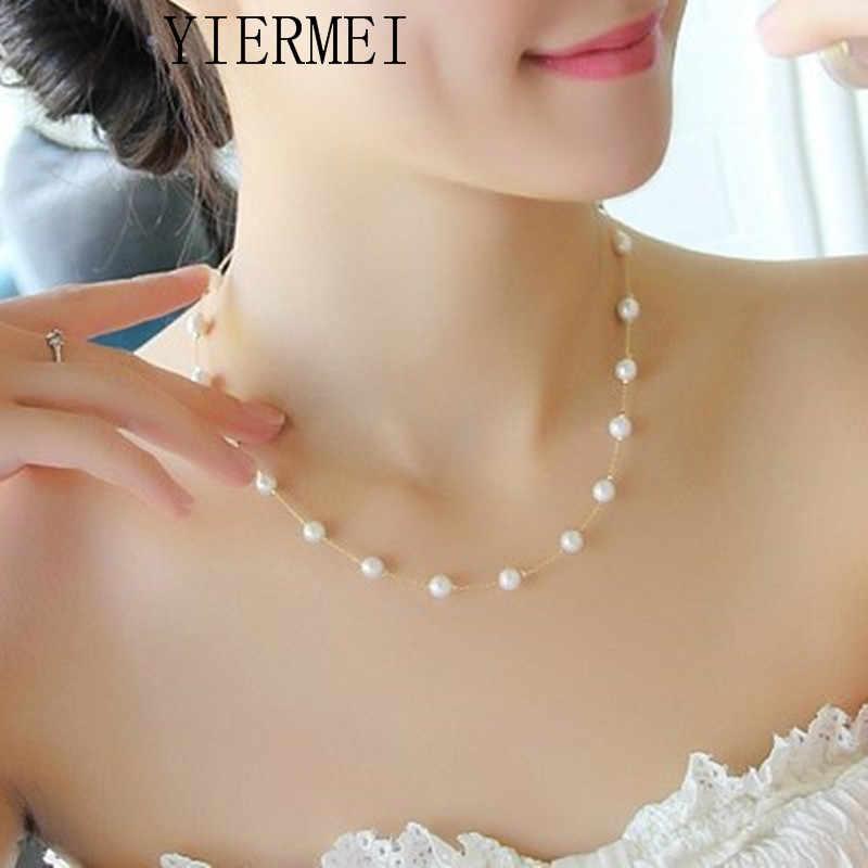 Frauen Schmuck Colliers Kette Imitation Perle Kette & Halskette Hochzeit Schmuck Halskette Männer & frauen Weiß Hochzeit geschenk Nec