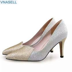 Новинка 2019 г. туфли на высоком каблуке с острым носком, модные туфли с закрытым носком, маленькие размеры, женская обувь