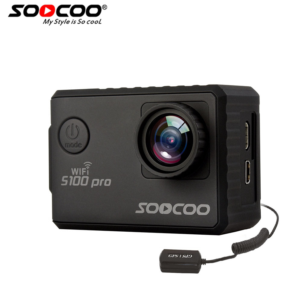 все цены на SOOCOO S100PRO 4K UHD Wifi Sports Action Camera Touch Screen Gyro with GPS Extension Model Voice Control 1080P HD Action Cam