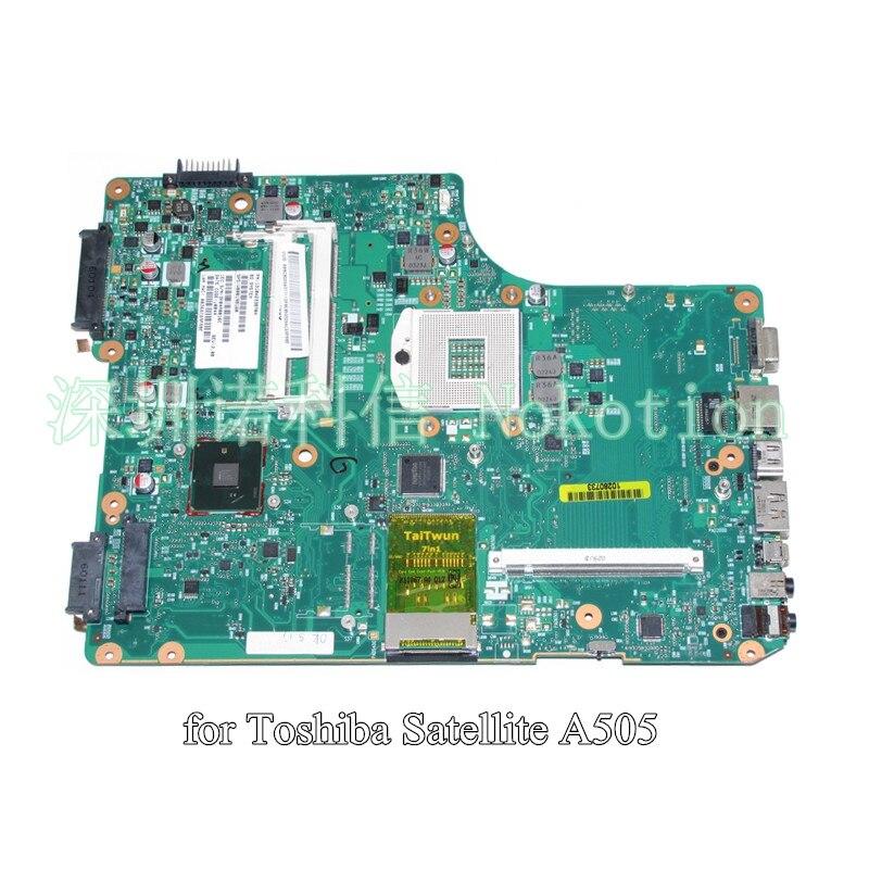все цены на  PN 1310A2338704 SPS V000198160 For toshiba satellite A500 A505 Laptop motherboard 6050A2338701-MB-A01  онлайн