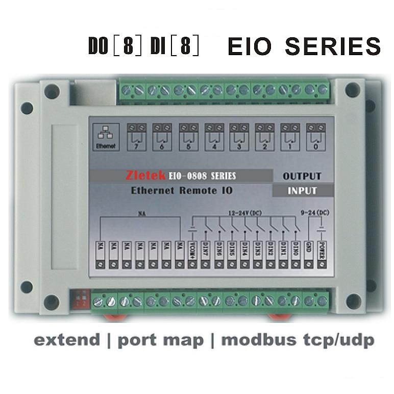 Programmable Ethernet Relay Module, Remote I/O,Network P2P PLC Logic Control, Modbus RTU TCP MQTT HTTP WEB Server, Analog PT100