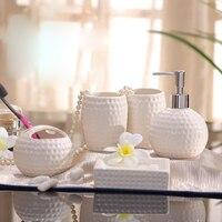 Fashion Five Pieces Bathroom Set Bathroom Set Ceramic Kit Brief Bathroom Supplies Shukoubei Wedding Gifts