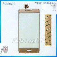Rubinzhi sensor de telefone com touchscreen  para ulefone gemini touch screen digitador de vidro frontal  painel de toque  lente exterior  substituição + fita