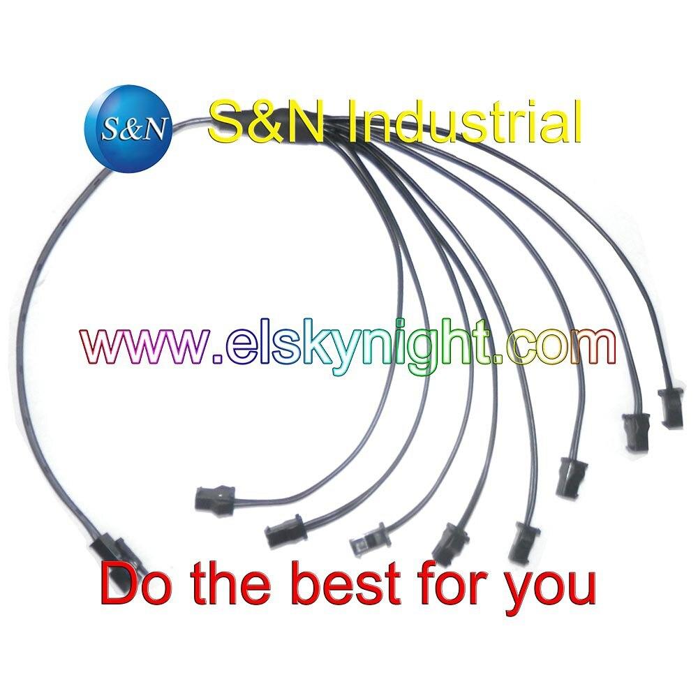 1 in 8 splitter cable for el wire/el panel ,1 to 8 splitter ...