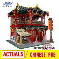 Xingbao 01002 3267Pcs MOC Creative Series The Beautiful Tavern Set Children Educational Building Blocks Bricks Toys