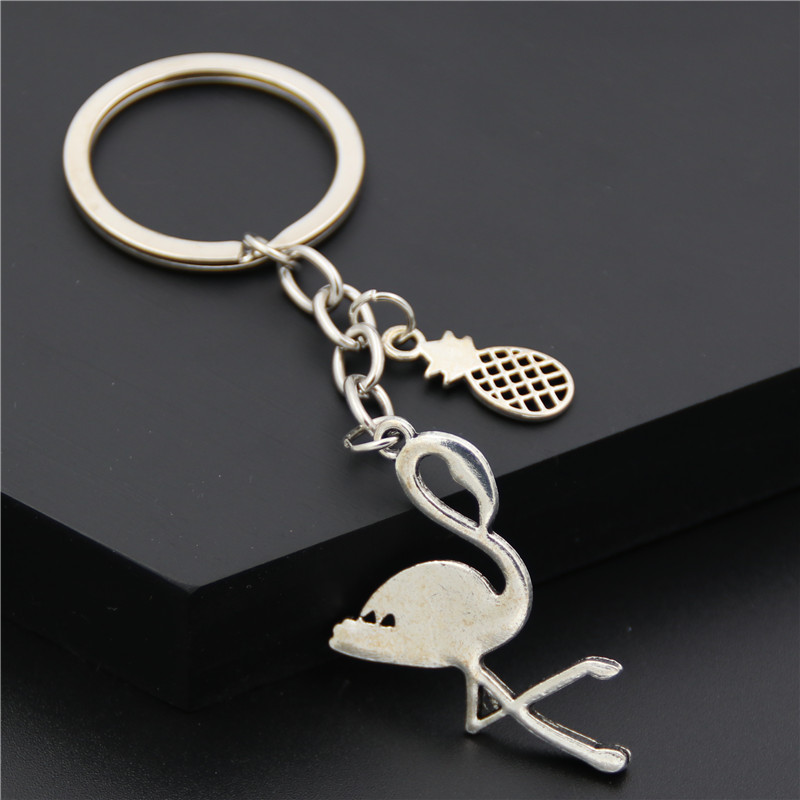 Alloy Animal Leather Keychain Cute Retro Alloy Weave Genuine Leather Car Key Chain for Men and Women