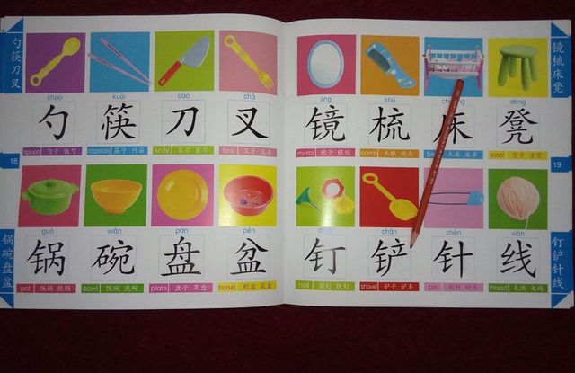 Chinese Characters Book With 300 Big Kanji Pictures For Baby Kids