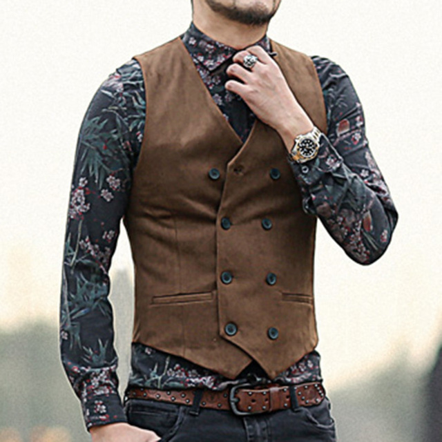 Mens fashion with vest 8