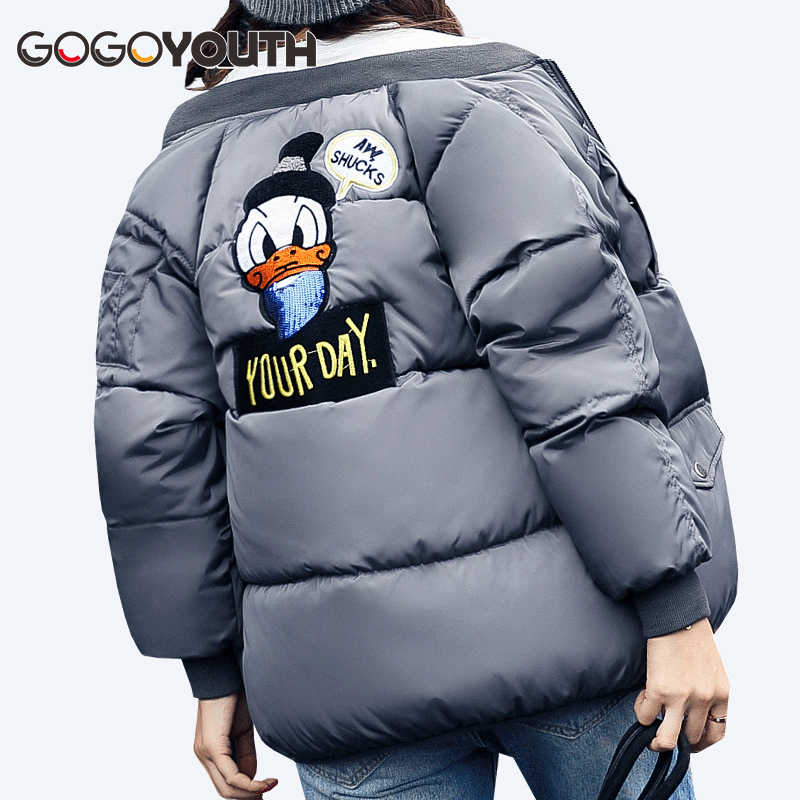 Kawaii Bomber Winter Jacket Women 2017 Autumn Thick Warm Parka Women Casual Female Jacket Coat Winter Cheap Cotton Snow Coat kuyomens 2017 women winter jacket coat cotton hooded thick warm loose women basic coats bomber jacket female autumn women coat