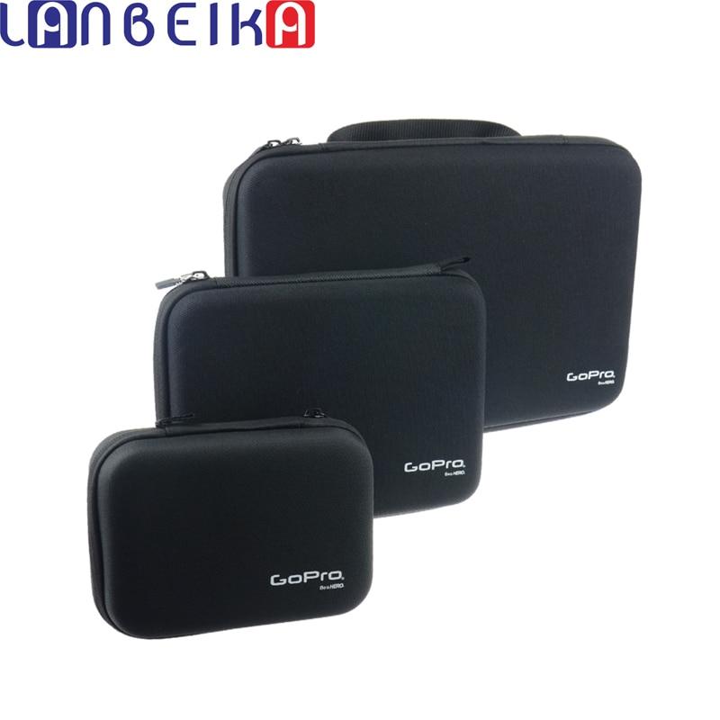 LANBEIKA Pour Gopro 3 Tailles Nylon Portable De Stockage Collection Sac Cas pour GoPro Hero 6 5 4 3 + SJCAM SJ5000 M20 SJ6 SJ7 EKEN