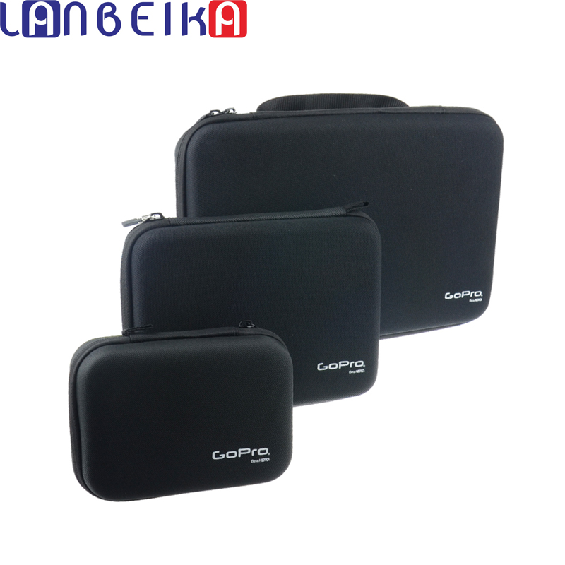 LANBEIKA para Gopro 3 tamaños de Nylon portátil de almacenamiento colección bolsa caso para GoPro héroe 6 5 4 3 + SJCAM SJ5000 M20 SJ6 SJ7 EKEN