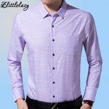 ff60832494 2018 algodão slim fit manga comprida camisa dos homens vestido de camisa  social masculina blusas casual