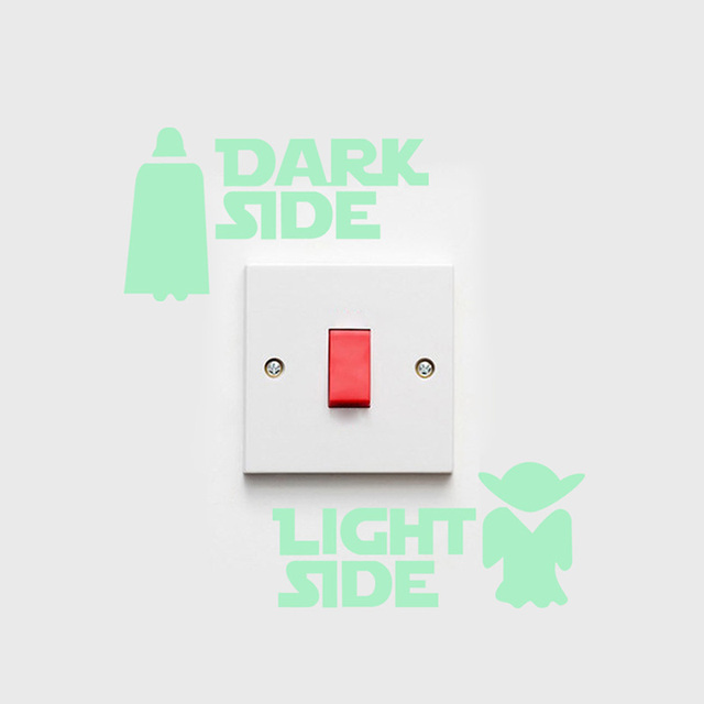 3D Luminous Star Wars Stickers