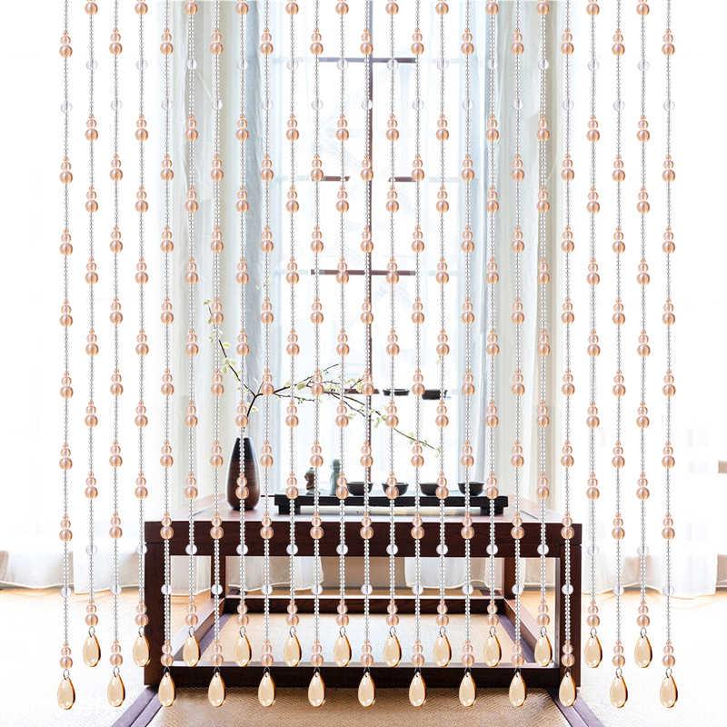 室内装飾カーテンクリスタルガラスビーズドアカーテンステージの背景の装飾の結婚式
