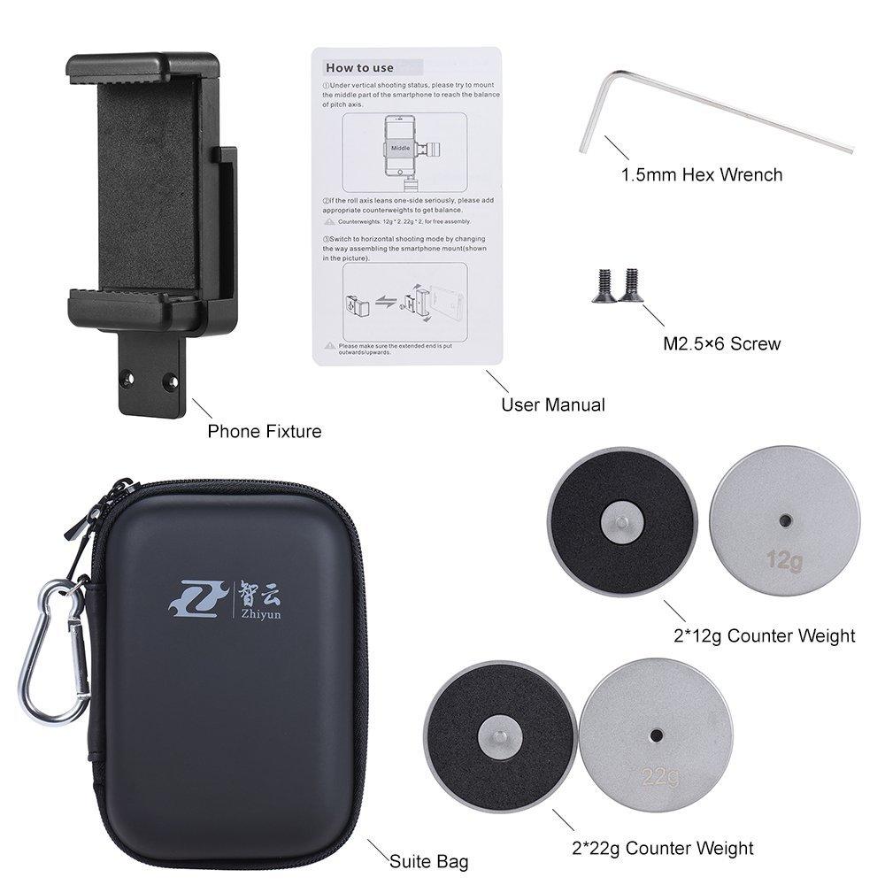 Zhiyun Smooth Series Live Vertical Shooting Suite Live Accessories for Zhiyun Smooth-C Smooth-II Handheld Gimbal Stabilizer