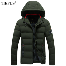 TIEPUS new winter jacket men Hat Detachable Warm Coat Cotton-Padded Outwear Male Jackets Hooded Parkas plus size 6XL 7XL 8XL