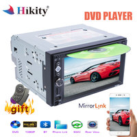 Hikity 6.2 Car Multimedia Player Double 2 din Car DVD Player Car Radio Stereo Steering Wheel Control Mirror Link CD Player