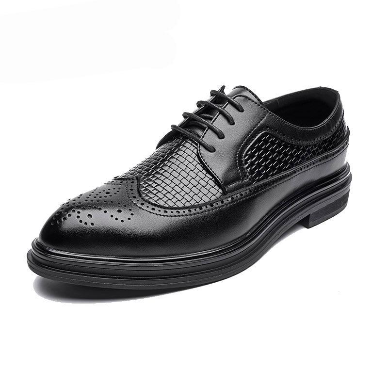 Casual Formais Homens Loafers De Luz Rendas Vestido Dos Black Bullock Couro Backcamel Britânico Negócios Aumento Sapatos Esculpida 6wxqdFq8R