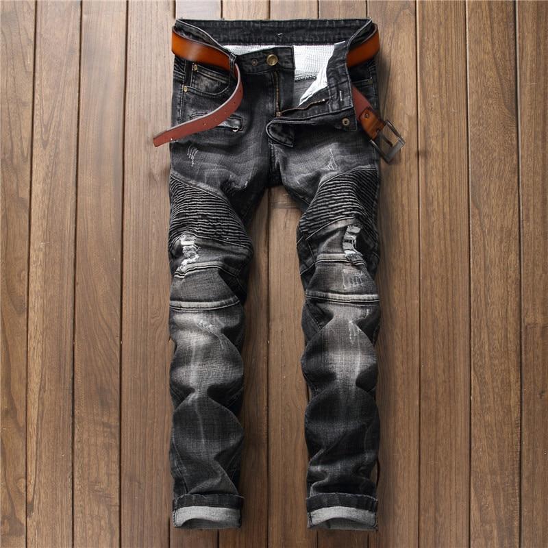High Quality Men Denim Jeans Pants Men s Vintage Stretch Jeans Long Trousers New Fashion Trend Hole Mens Jeans Casual Pants