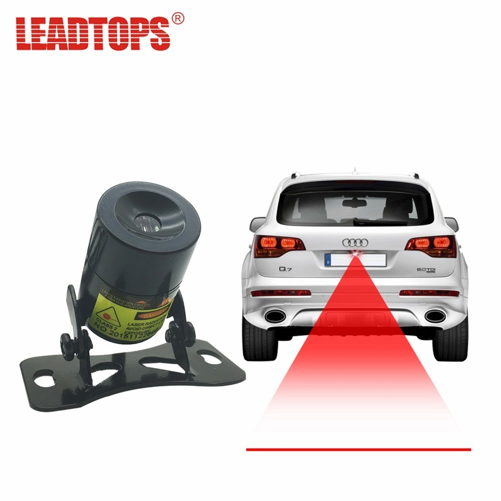 LEADTOPS 1set Car Laser Tail Fog Light Auto Brake Lamp Rearing Warning Project Light 220mw 12V For Motorcycles,cars,trucks BE