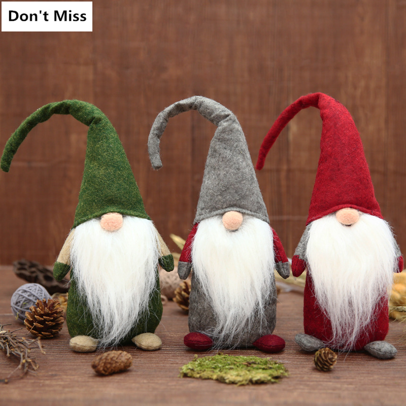 2018 Swedish Christmas tomte/nisse Santa Claus Decoration Plush Xmas Funny Gnome Plush-Christmas Kids Gift
