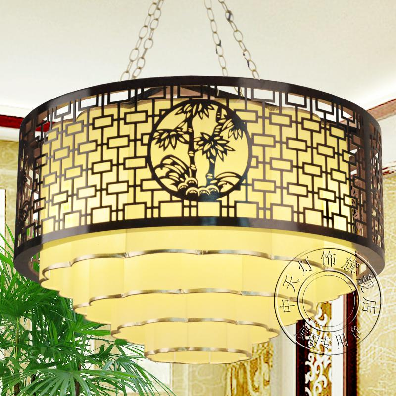 Chinese style Iron restaurant lobby hall wood Pendant Lights Chinese creative living room lamps Retro Decoration Art ZA ZS62