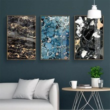 купить Abstract Marble Wall Art Canvas Painting Home Decoration Nordic Posters And Prints Wall Pictures For Living Room Decor Unframed по цене 296.35 рублей