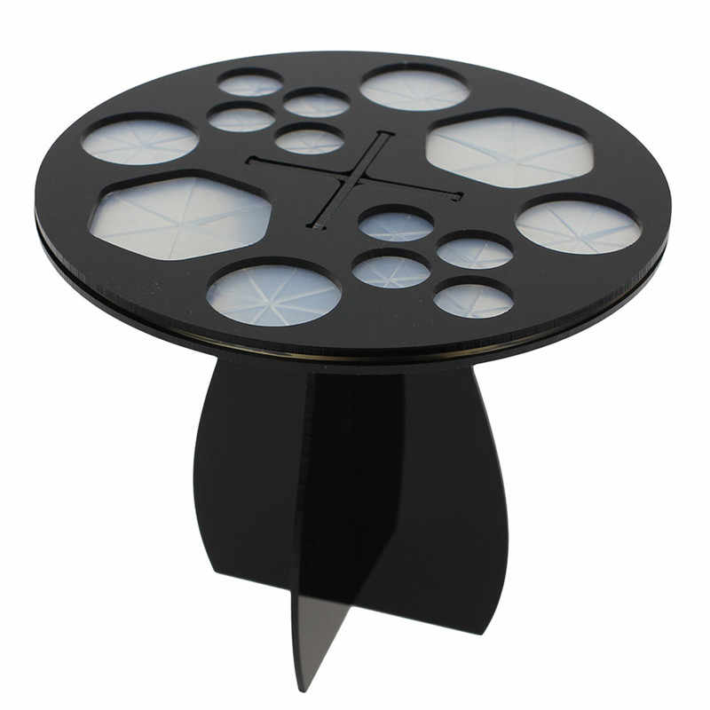 Acrylic Makeup Eyeshadow Power Drying Brush Rack Organizer Holder Makeup Brushes Stand Storage (rip off the paper of outside)