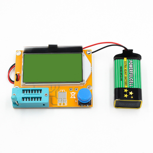Image 3 - Mega328 M328 LCR T4 12846 LCD cyfrowy Tester próbnik elektroniczny miernik dioda podświetlenia trioda pojemnościowy miernik parametru ESR MOS/PNP/NPN L/C/R