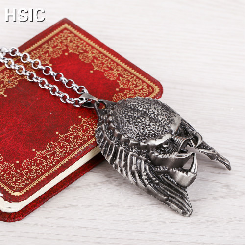 HSIC Dropshipping Fashion Metal Alloy Alien Mask  Necklace Pendant Man Cool Vintage Movie Jewelry HC595|Pendant Necklaces|Jewelry & Accessories - AliExpress