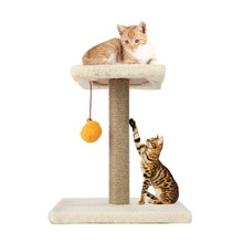 Cat Scratcher Pet Cat Tree Hemp Rope Swing Ball Scratching Post Climbing Frame DIY Assembled Interesting Cat Toys Dropshipping