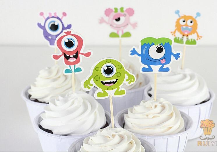 Phenomenal 120Pcs Monsters University Candy Bar Cupcake Toppers Picks Personalised Birthday Cards Epsylily Jamesorg