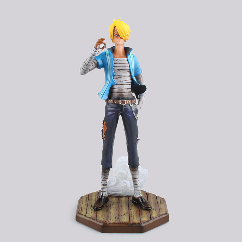 Anime One Piece POP Sailing Again Sanji PVC Action Figure Collectible Model Toy 24cm KT2240 25cm pvc japanese anime figure one piece sanji action figure collectible model toys for boys