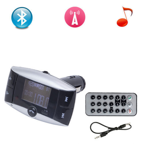 Wireless <font><b>Bluetooth</b></font> FM Transmitter Modulator LCD Car Kit MP3 Music Player With SD USB LCD Remote Control+Car charger